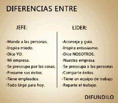 Diferencia entre un jefe líder y un jefe autoritario #liderazgo