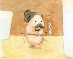 Cute Animal Drawings, Cute Animal Pictures, Cute Drawings, Hamsters As Pets, Funny Hamsters, Japanese Hamster, Beautiful Easy Drawings, Animals For Kids, Cute Animals