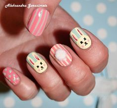61 Best Nails With Rabbits Images On Pinterest Nail Art Bunnies