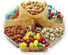 Hula Delights Deluxe Holiday Candy and Roasted Nuts Gift Basket ★ Octagon Shaped Gift Tray ★ Delicious Roasted Almonds, Pistachios, Cashews, Mixed Nuts, Chocolate Lentils, Swiss Petite Fruit Candy, Super Sour Worms ★ Gift Baskets for Men and Women of All Ages ★ Fantastic for Any Occasion ★ 100% Satisfaction Guaranteed - http://bestchocolateshop.com/hula-delights-deluxe-holiday-candy-and-roasted-nuts-gift-basket-%e2%98%85-octagon-shaped-gift-tray-%e2%98%85-delicious-