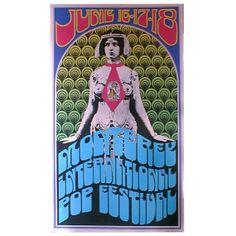 Monterey Pop 1967 concert poster 1992 by QuarterMoonCurios on Etsy, $145.00