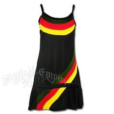 Rasta Tank Top Short Dress - Black #rasta #reggae
