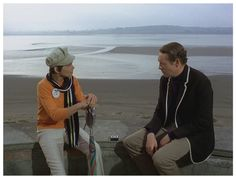 DANCE OF THE DEAD: Mary Morris as Number Two with Patrick McGoohan as Number Six.