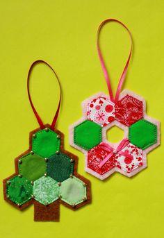 hexagon Christmas ornaments
