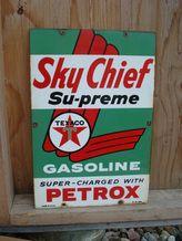 Sky Chief Supreme Texaco sign.