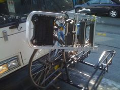You call it a bike rack. I call it useful cargo space.