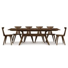 Audrey 72-Inch Extension Table with self-storing leaf by Copeland.  I love the table but would choose different chairs.