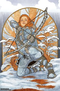 Ygritte - Game of Thrones Art Nouveau - A Song of Ice and Fire Illustrations