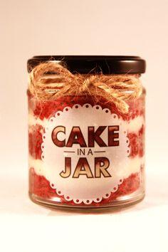 Small Red Velvet Cake in a Jar £3.45