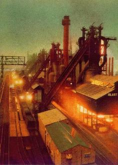 J Steel Blast Furnace in Aliquippa. Mark's father, the late Edward (Gigi) Scappe, spent 50 years at the J & L and Shenango steel mills in Aliquippa and Neville Island.