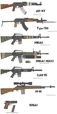 This image relates to my book because these are the types of weapons that the soldiers mentioned in the book use