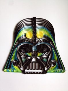 Darth Vader | Community Post: Wonderfully Geeky Quilled Paper Sculptures