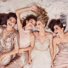 How dreamy are these blushing beauties? This #MaidsMonday is all about sparkle—and it's just in time for the new year! Dresses by @watterswtoo . . . . #squadgoals #bridalparty #bridesmaids #bride #bridesmaid #maidofhonor #girls #friends #bridetobe #weddin