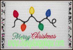 Christmas lights applique design 3 sizes INSTANT DOWNLOAD