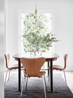 Dining Table Design, Dining Room Table, Dining Chairs, Lounge Chairs, Room Chairs, Dining Set, Minimalist Dining Room, Design Furniture, Deco Furniture
