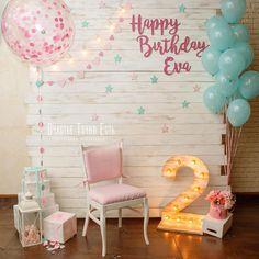 New Birthday Diy Surprise Decoration Ideas Birthday Party Decorations Diy, Birthday Crafts, Birthday Party Themes, Diy Birthday Backdrop, Birthday Ideas, 2nd Birthday Party For Girl, 50th Birthday, Foto Baby, Snacks Für Party
