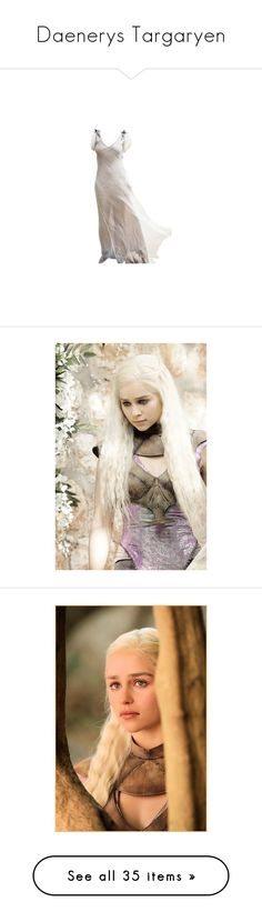 """""""Daenerys Targaryen"""" by greerflower ❤ liked on Polyvore featuring dresses, gowns, long dresses, vestidos, costumes, cosplay halloween costumes, role play costumes, cosplay costumes, game of thrones and armor"""