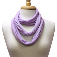 Lavender Ultra Lightweight Circle Ring Infinity Scarf Luxury Divas. $13.99
