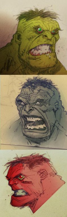 Hulk sketches by Greg Capullo