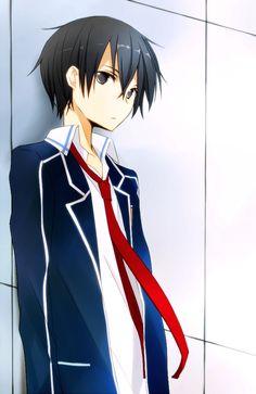Kazuto Kirigaya (Kirito) by Tsukimori Usako - Sword Art Online (SAO) Arte Online, Kunst Online, Online Art, Fanarts Anime, Anime Manga, Anime Guys, Kirito Kirigaya, Kirito Asuna, Tous Les Anime