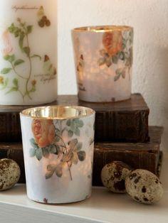 Vintage Floral Tealight Holder