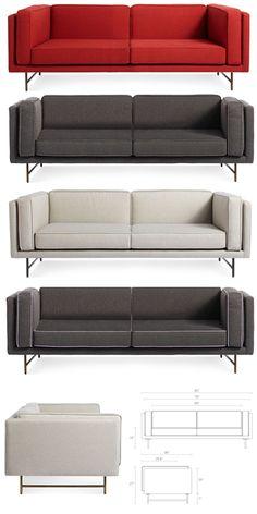 Blu Dot   Bank 80 | Modern Furniture | Zinc Details