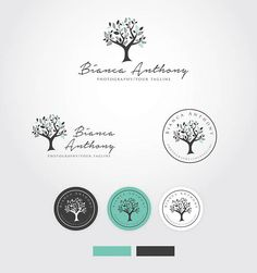 Tree logo Photography logo and Watermark Nature logo Small