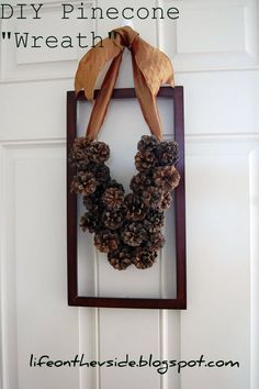 """Initial """"Wreath"""" - DIY with pinecones"""