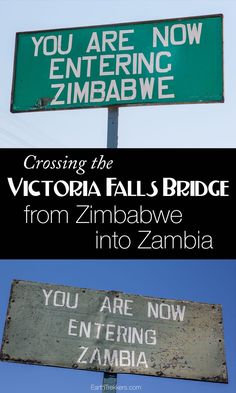 Crossing the Victoria Falls Bridge from Zimbabwe into Zambia. A how to guide explaining Visa requirements, yellow fever vaccination, and how to get there.