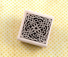 Wood Mounted Rubber Stamp - Celtic Knotwork