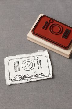 place card stamp