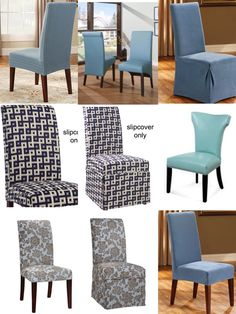 Blue Dining Chairs And Chair Slipcovers UpholsterEase
