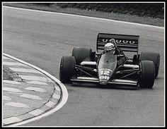 Ayrton Senna with Lotus Renault