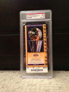 2010 Los Angeles LA Lakers NBA Finals Game 7 Ticket Stub Celtics PSA 10 GEM MINT