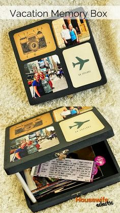 a vacation memory box My Sister's Suitcase: Saturday Share #3 - 10 Ideas for Using Project Life Cards