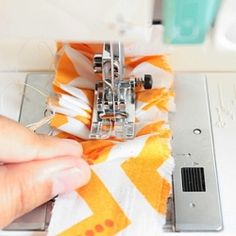 Learn to ruffle and attach fabric in one step. Part of Make It Handmade's Rufflicious Series
