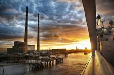 """Sunset at Poolbeg"" Art Prints by TonyColeby 
