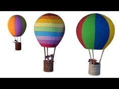 DIY Decoração Artesanato: Balão / Decoration Craft: Balloon / Artesanía Decoración: Balloon - YouTube