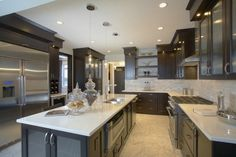 dark-cabinets-light-counters.jpg Photo:  This Photo was uploaded by charissglen. Find other dark-cabinets-light-counters.jpg pictures and photos or uploa...