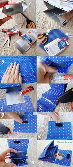 Wallet made from tetra pack – upcycling – something for older kids maybe? Wallet made from tetra pack – upcycling – something for older kids maybe? Diy Projects To Try, Craft Projects, Sewing Projects, Diy And Crafts, Crafts For Kids, Paper Crafts, Tetra Pack, Pochette Diy, Diy Clutch