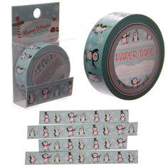 *Weihnachts-Pinguin*Paper Tape*10 Meter*Weihnachten*Washi Tape* | eBay