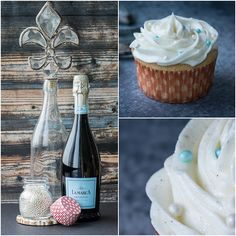 Prosecco Cupcakes for #NewYearsEve - Kailley's Kitchen