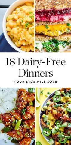Dairy Free Recipes For Kids, Dairy Free Options, No Dairy Recipes, Healthy Recipes, Lactose Free Kids Meals, Lactose Free Vegetarian Recipes, Dairy Free Foods, Dairy Free Dinners, Chicken Recipes No Dairy