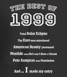The Best of 1999 - 18th Birthday T Shirt for Women