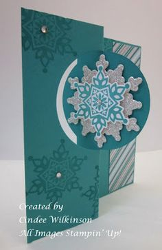 Just Sponge It. Festive Flurry Bundle, Winter Frost Specialty Paper & Circle Thinlits Dies.
