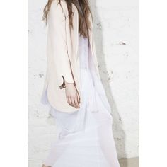 What we seem to like most is to combine #contrasting #materials. Like this hard #blazer with ultra soft #dress.