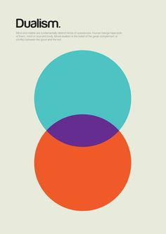 The main concepts of Philosophy explained through simple shapes and minimalist posters by the English graphic designer Genis Carreras. Graphisches Design, Swiss Design, Cover Design, Book Design, Circle Design, Shape Design, Design Elements, Minimalist Graphic Design, Graphic Design Posters
