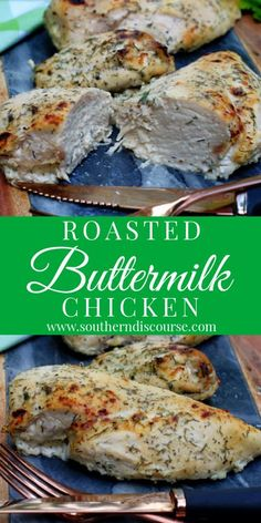 Tender Roasted Buttermilk Chicken - a southern discourse