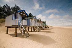 Wells next the Sea, Norfolk, England Norfolk Beach, Norfolk Coast, Norfolk England, Cabana, Beach Shack, Beach Huts, British Seaside, British Beaches, British Isles