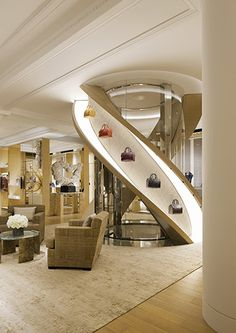 Curiosity Design Studio #staircase #glass# louis Vuitton #lift